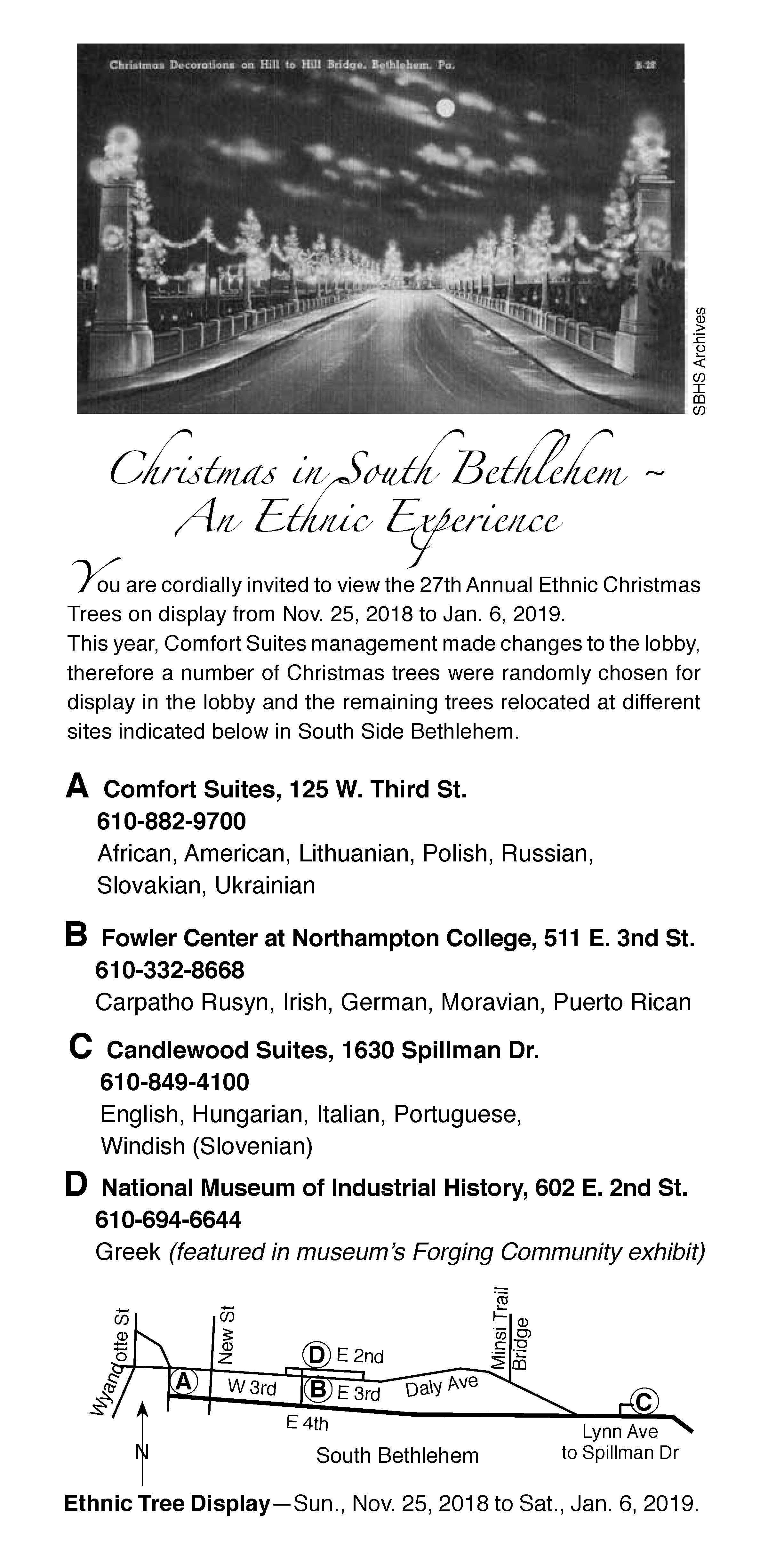 Christmas History In English.South Bethlehem Ethnic Tree Displays South Bethlehem